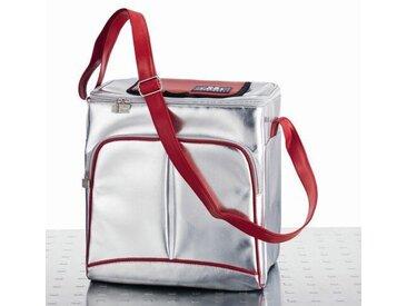 19L Kühltasche in Silber / Rot