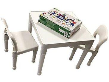 3-tlg. Kinder Tisch und Stuhl-Set Loren