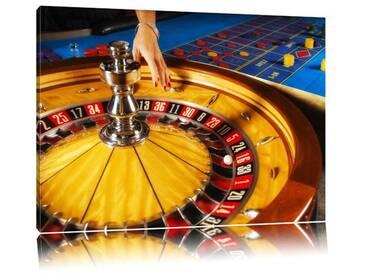 Leinwandbild ,,Roulette Tisch in Las Vegas, Fotodruck