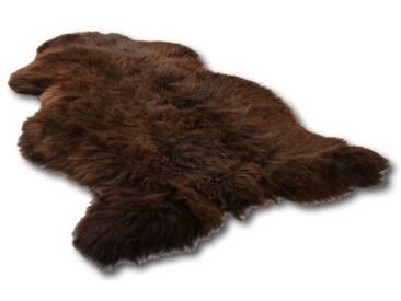 Teppich Autrey aus Schaffell in Braun