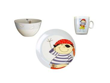 3-tlg. Kinder-Set Pirat