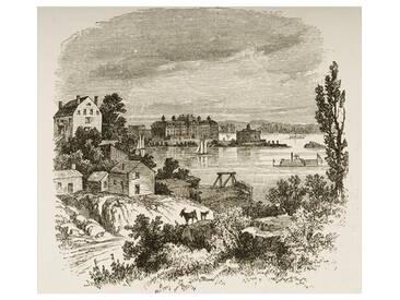 Gerahmter Kunstdruck Turtle Bay and Blackwells Island, New York, C. 1880 von Reverend Samuel Manning