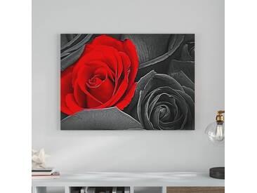 """Leinwandbild """"Romantische rote Rosen 1 von Christian Hold, Grafikdruck"""
