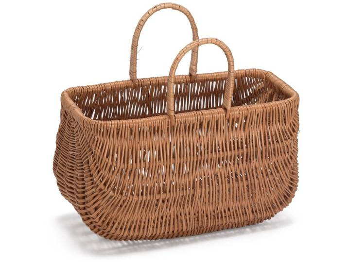 Wicker Shopping Basket Braun