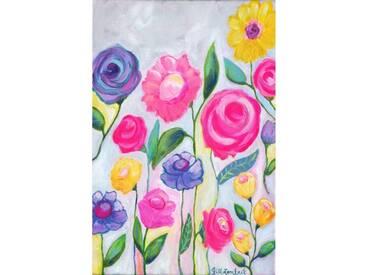 "Leinwandbild ""Flowers"" von Jill Lambert, Kunstdruck"