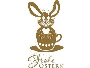 Wandtattoo Frohe Ostern, Hase, Tasse, Eier