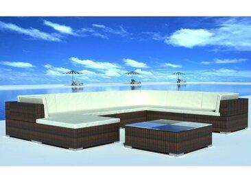 7-Sitzer Lounge Set Hollywood aus Polyrattan mit Polster