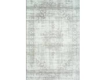 Handgefertigter Teppich Vintage in Elfenbein