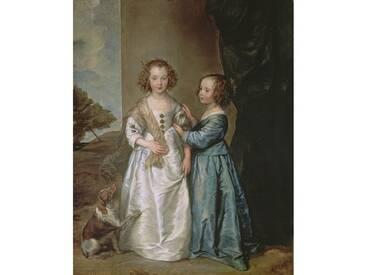 "Leinwandbild ""Philadelphia and Elisabeth Wharton, 1640 von Sir Anthony Van Dyck, Kunstdruck"