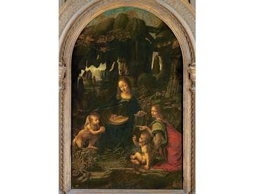 Gerahmter Kunstdruck Madonna of The Rocks, C.1478 von Leonardo Da Vinci