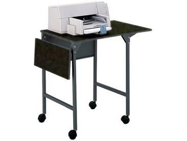 Mobiler Druckertisch mit klappbaren Seitenplatten