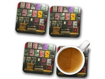 Tassenuntersetzer-Set Vinyl Records