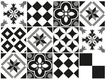 12-tlg. Selbstklebendes Mosaikfliesen-Set Alva aus PVC