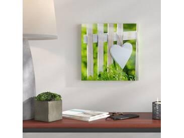 Glasbild Lovely Garden I, Kunstdruck