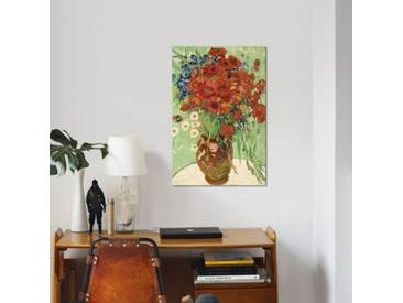Leinwandbild Vase mit Margeriten und Mohnblumen von Vincent van Gogh
