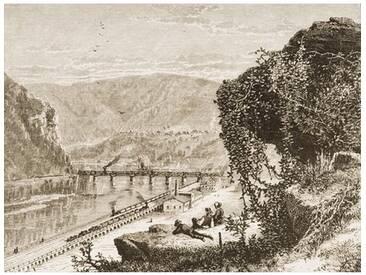 Poster Harpers Ferry, West Virginia, C. 1880, Kunstdruck von Reverend Samuel Manning