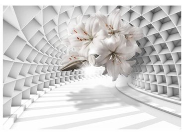 Fototapete Flowers in the Tunnel 2,8 m x 400 cm