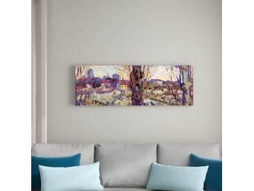 """Gerahmtes Leinwandbild """"Alte Meister Blick auf Arles"""" von Vincent van Gogh, Kunstdruck"""
