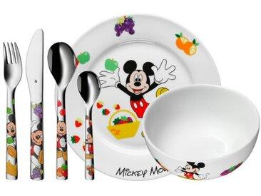 6-tlg. Kindergeschirrset Mickey Mouse aus Porzellan und Edelstahl