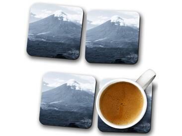 Glasuntersetzer-Set Landscape Guatemala Volcano 2