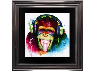 Gerahmtes Poster DJ Monkey