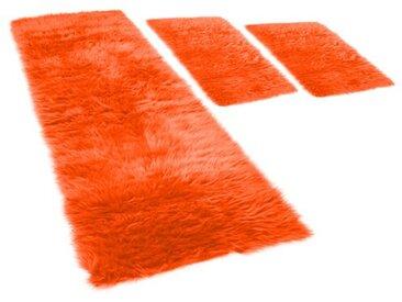 Bettumrandung Pireo in Orange