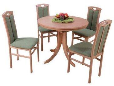Essgruppe Kinmundy mit ausziehbarem Tisch und 4 Stühlen
