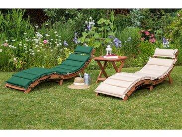 Gartenliege Vallejos mit Auflage und Tisch