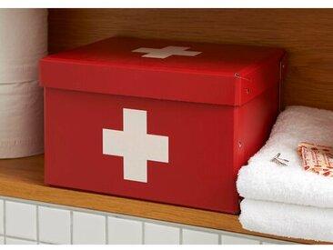 Aufbewahrungsdose First Aid aus Holzwerkstoff