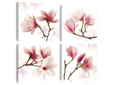 4-tlg. Leinwandbilder-Set Romanze in Rosa
