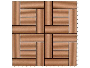 30 cm x 30 cm Bodenfliesen-Set aus Holz-Kunststoff-Verbundmaterial