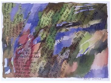 Gerahmte, typografische Kunst Analysis, 1996 von Kate Dicker