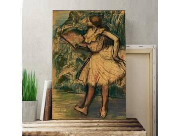 Leinwandbild Dancer with a Fan Kunstdruck von Edgar Degas
