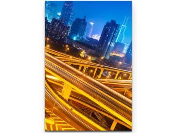 LeinwandbildNachtleben in Shanghai