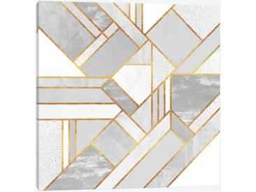 Gold City by Elisabeth Fredriksson Graphic Art Print on Wrapped Canvas