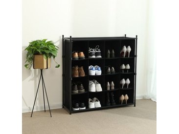 Stapelbares Schuhregal für 16 Paar Schuhe