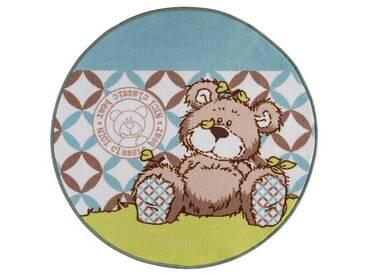 Teppich Nici L. Bear in Braun/Blau