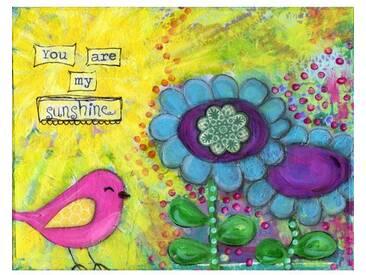 """Leinwandbild """"Bird Sunshine"""" von Jill Lambert, Kunstdruck"""