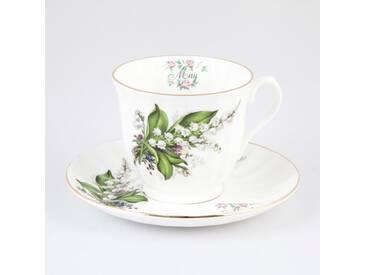 Teetasse mit Unterteller Flowers of the Month May