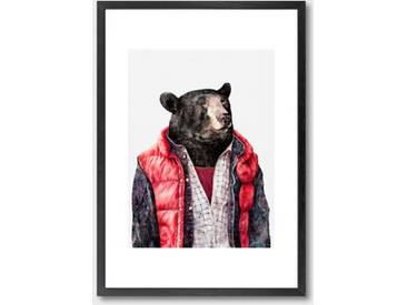 """Gerahmter Kunst """"Bear"""" von Animal Crew"""