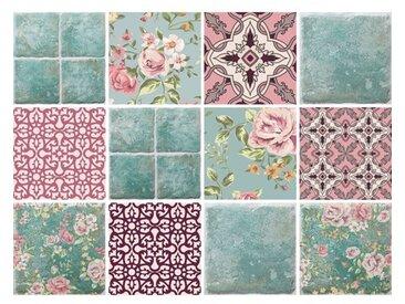 12-tlg. Selbstklebendes Mosaikfliesen-Set Sara aus PVC