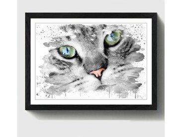 Wandbild Grünäugige Katze