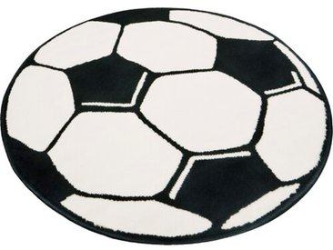 Teppich Fußball in Schwarz/Weiß