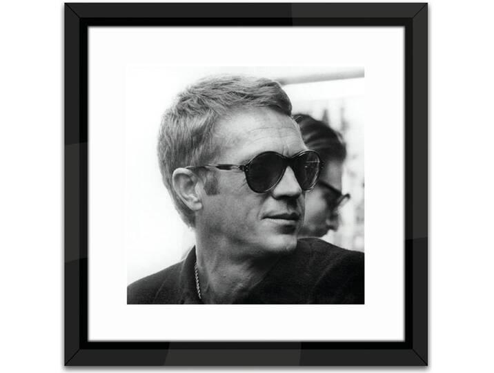Steve McQueen Framed Photographic Print Schwarz