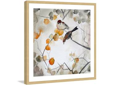 Fall Birds by Christine Lindstrom Framed Painting Print