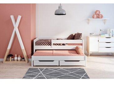 Funktionsbett Beasley mit Schubladen und Ausziehbett, 90 x 200 cm