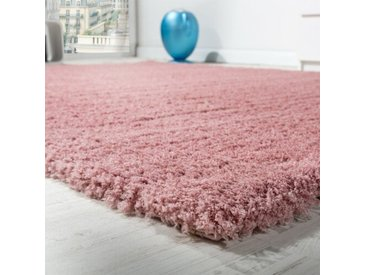 Shaggy-Teppich Garland in Rosa