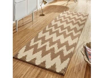 Teppich Basic in Hellbraun