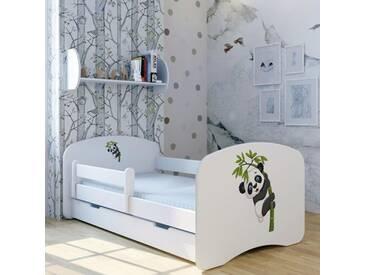 Funktionsbett Panda Paulchen mit Matratze und Schublade