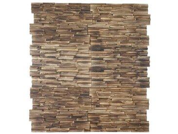 20 cm x 54 cm Mosaikfliesen-Set Frechette aus Holz